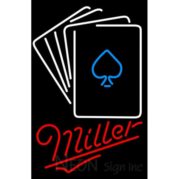 Miller Neon Poker Cards Neon Sign 7 0002
