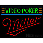 Miller Neon Video Poker Neon Sign 7 0005