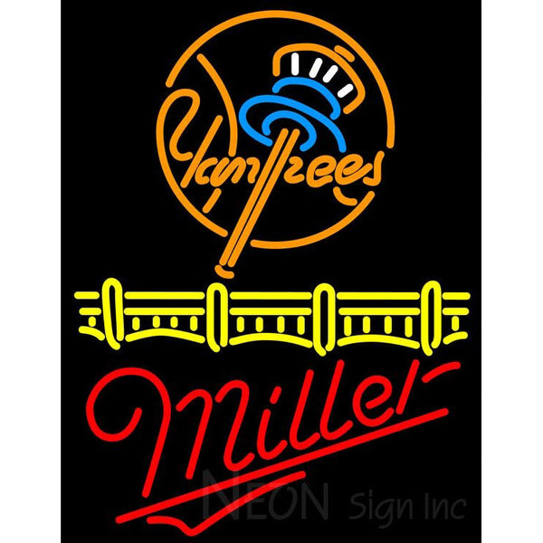 Miller New York Yankees Neon Sign