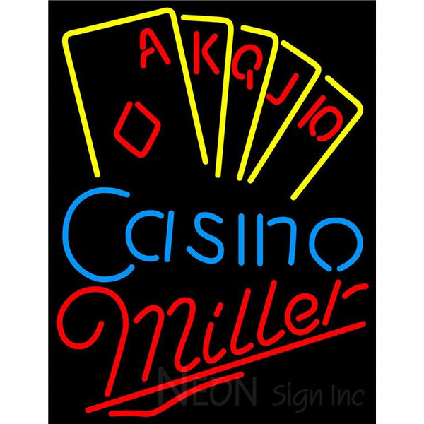 Miller Poker Casino Ace Series Neon Sign