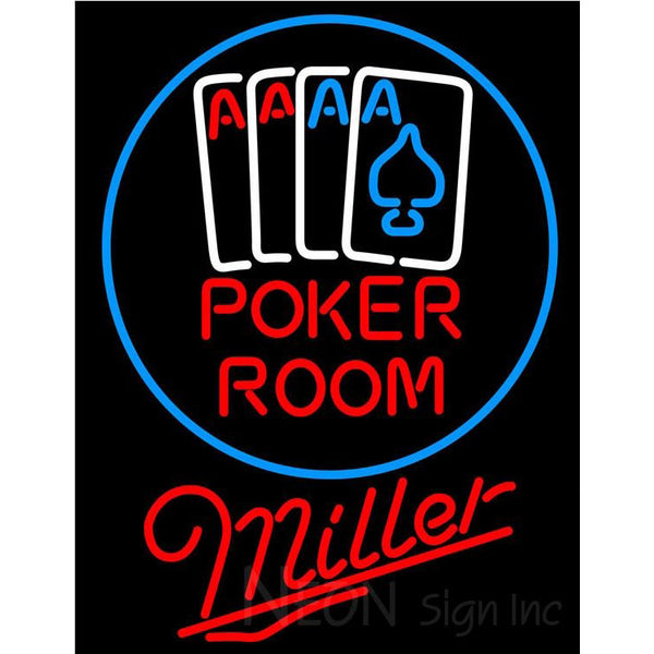 Miller Poker Room Neon Sign