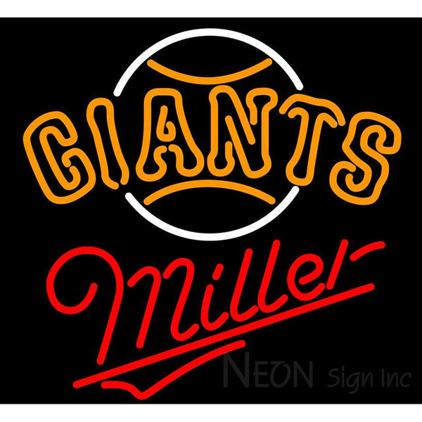 Miller San Francisco Giants MLB Neon Sign