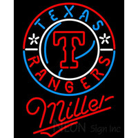 Miller Texas Rangers MLB Neon Signs