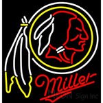 Miller Washington Redskins NFL Neon Sign