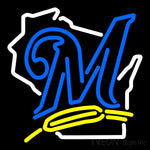 Milwaukee Brewers Alternate 2000 Pres Logo MLB 2 Neon Sign 16x16