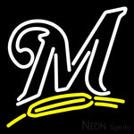 Milwaukee Brewers Alternate 2000 Pres Logo MLB 3 Neon Sign 16x16