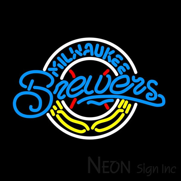 Milwaukee Brewers MLB Neon Sign