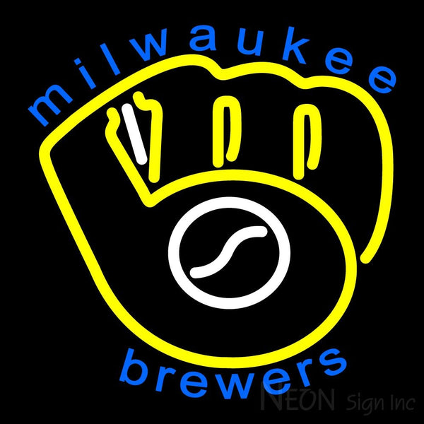 Milwaukee Brewers Primary 1978 1993 Logo MLB 1 Neon Sign 16x16