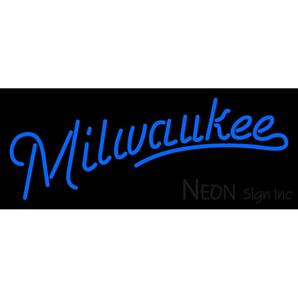 Milwaukee Brewers Wordmark 2010 Pres Logo MLB Neon Sign