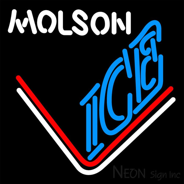 Molson Ice Hockey Neon Beer Sign 16x16