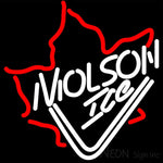 Molson Ice Mapleleaf Neon Beer Sign 16x16