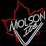 Molson Ice Maple Leaf Neon Beer Sign 24x24