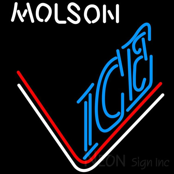 Molson Ice Hockey Neon Beer Sign 24x24