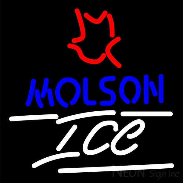 Molson Ice Small Maple Leaf Neon Beer Sign 16x16