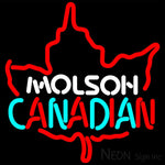 Molson Leaf Neon Sign 16x16