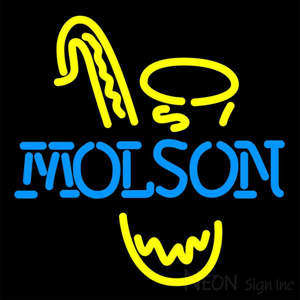 Molson Saxophone Neon Beer Sign 16x16