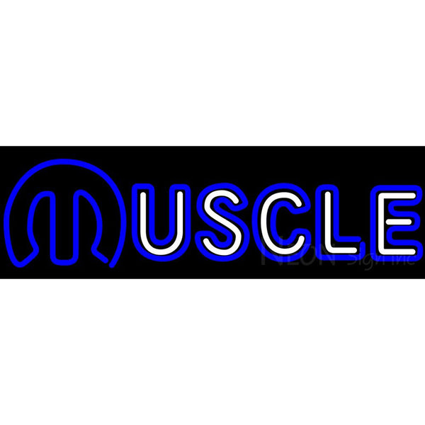 Mopar Muscle Triple Stroke Neon Sign Chrysler