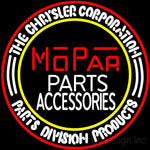 Mopar Vintage Style Parts And Accessories Neon Sign Nib