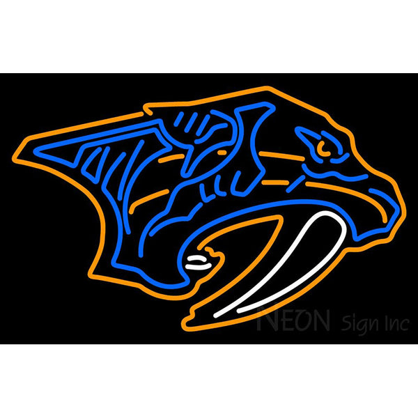 Nashville Predators Primary 2011 12 Pers Logo Nhl Neon Sign