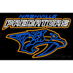 Nashville Predators Wordmark 1998 99 2010 11 Logo Nhl Neon Sign 1