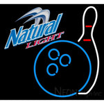 Natural Light Bowling Neon Blue White Neon Sign 9 0002