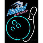 Natural Light Bowling Neon White Neon Sign 9 0004
