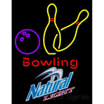 Natural Light Bowling Neon Yellow Signs 9 0007