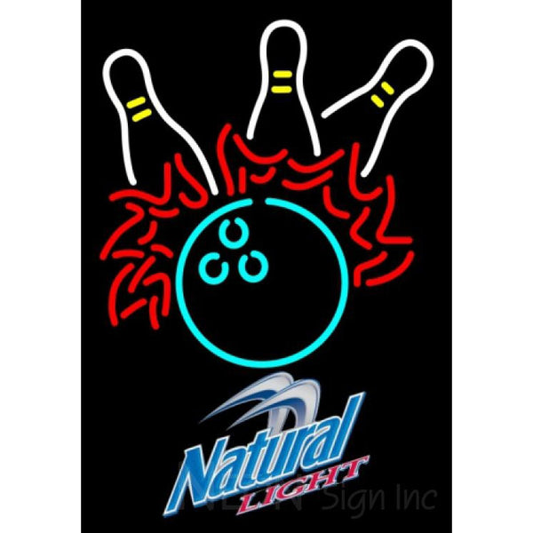 Natural Light Bowling Pool Neon Sign 9 0009