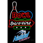 Natural Light Bowling Spare Time Neon Sign 9 0010