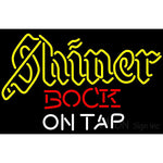 Neon Beer Sign Shiner Bock On Tap