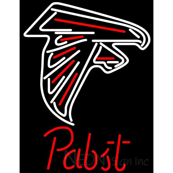 Pabst Atlanta Falcons NFL Beer Neon Sign