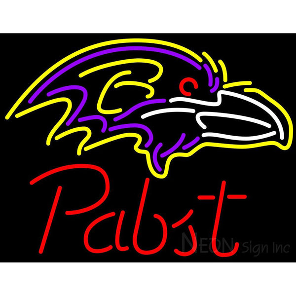 Pabst Baltimore Ravens NFL Beer Neon Sign
