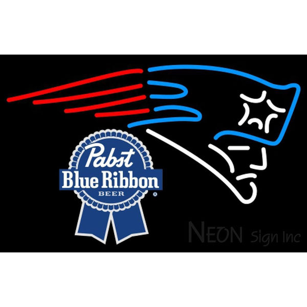 Pabst Blue Ribbon New England Patriots NFL Neon Sign 1 0024