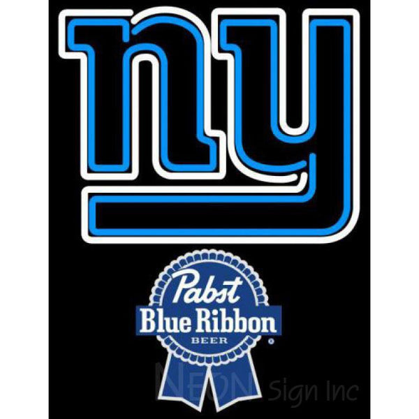 Pabst Blue Ribbon New York Giants NFL Neon Sign 1 0019