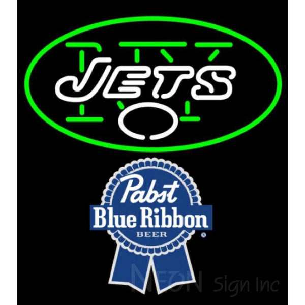 Pabst Blue Ribbon New York Jets NFL Neon Sign 1 0024
