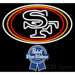 Pabst Blue Ribbon San Francisco 49ers NFL Neon Sign 1 0019