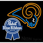 Pabst Blue Ribbon St Louis Rams NFL Neon Sign 1 0024