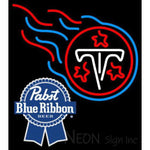 Pabst Blue Ribbon Tennessee Titans NFL Neon Sign 1 0024