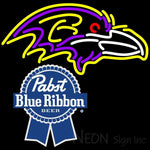 Pabst Blue Ribbon Baltimore Ravens NFL Neon Sign 1 0021