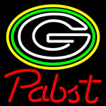 Pabst Green Bay Packers NFL Beer Neon Sign 16x16