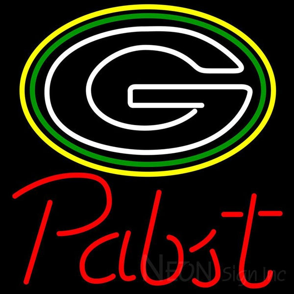 Pabst Green Bay Packers NFL Beer Neon Sign 24x24