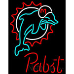 Pabst Miami Dolphins NFL Beer Neon Sign