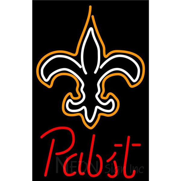 Pabst New Orleans Saints NFL Beer Neon Sign