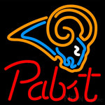 Pabst St Louis Rams NFL Beer Neon Sign 16x16