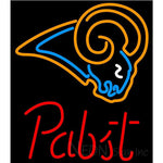Pabst St Louis Rams NFL Beer Neon Sign 21x24