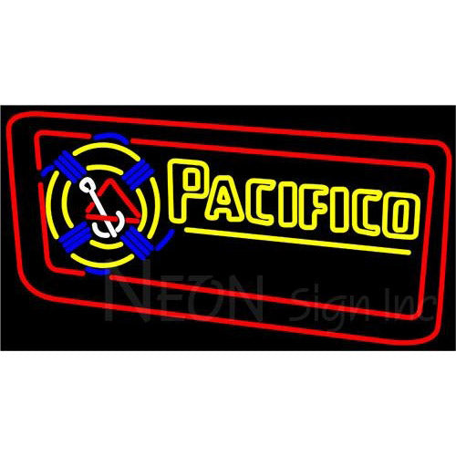 Pacifico Rope Inlaid Neon Beer Sign