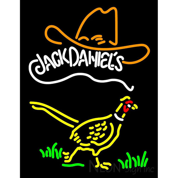 Pheasant And Jack Daniels Neon Sign