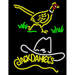 Pheasant And Jack Daniels Yellow Neon Sign
