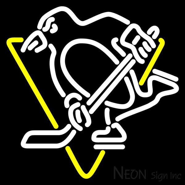 Pittsburgh Penguins Primary 1971 72 1991 92  NHL Neon Sign 1 16x16
