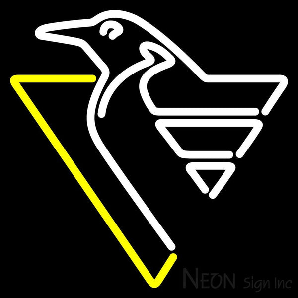 Pittsburgh Penguins Primary 1992 93 2001 02  NHL Neon Sign 1 16x16